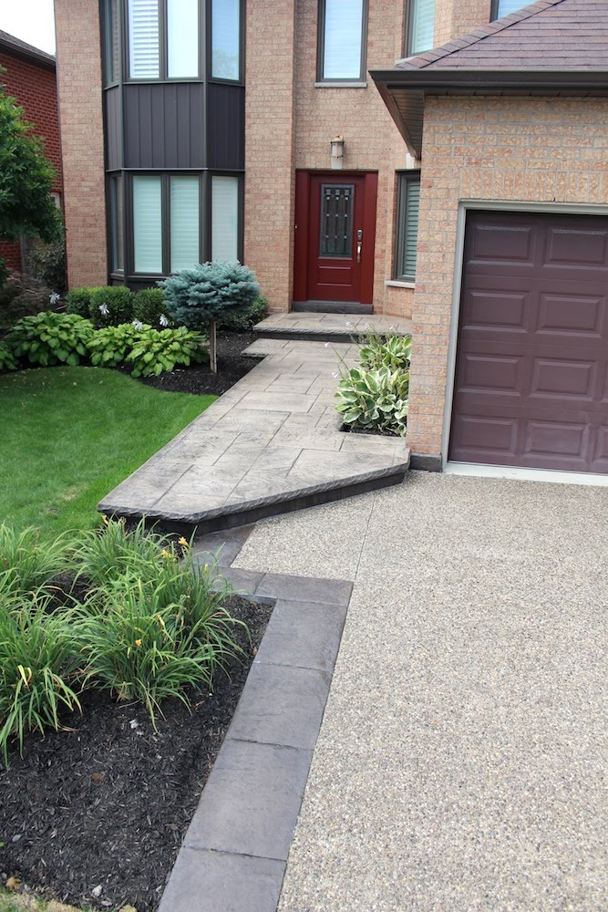 Aggregate to Stamp Walkway